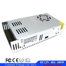 Small Volume 12V 40A 480W Switching power supply Driver For LED Light Strip Display 110v 220v AC DC12V SMPS Factory Supplier