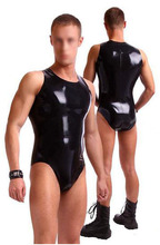 Buy Customized Latex Male Catsuit Zentai Catsuit Without Zip Latex Men's Leotard