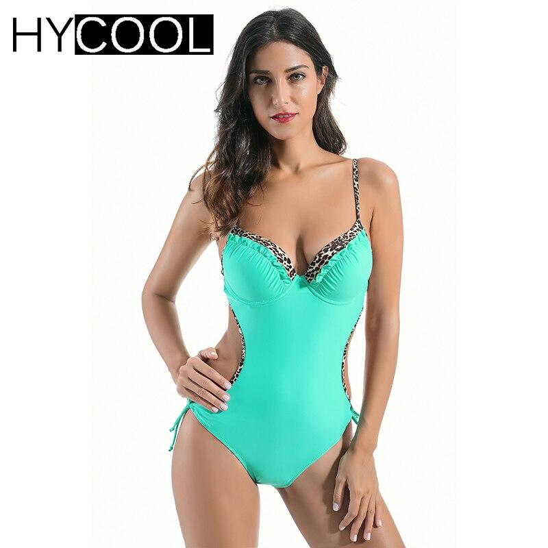 HYCOOL Sexy One Piece Swimsuit Swimwear Bikini Women 2017 Female Pool Bathers Swimwear Swimming Bathing Suits Bodysuit Monokini<br>