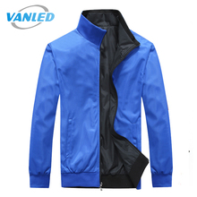 4XL Plus Size 2017 New Brand Jacket Male Spring Autumn Zipper Double Surface Jacket Men'S Casual Thin Jacket Coat(China)