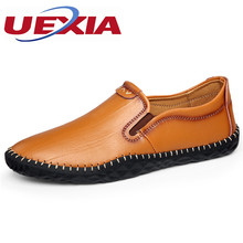 Men Shoes Casual Luxury Fashion Slip On Driving Designer 2017 Handmade Breathable Leather Zapatos Flats Elastic band Loafers(China)