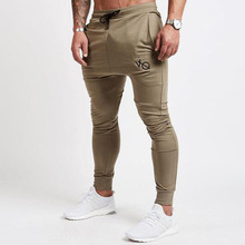 New 2017 Mens Joggers High Quality Slim Gyms Pants Trousers Men Gymming Fit Sporting Male Breathable Black Khaki Joggers