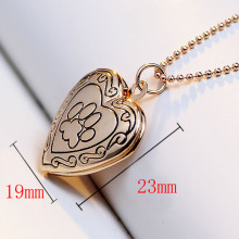 2017 New Arrival Valentines Gift Pet Dog Paw Charm Pendant Box Photo Locket Necklace Heart Shape Jewelry