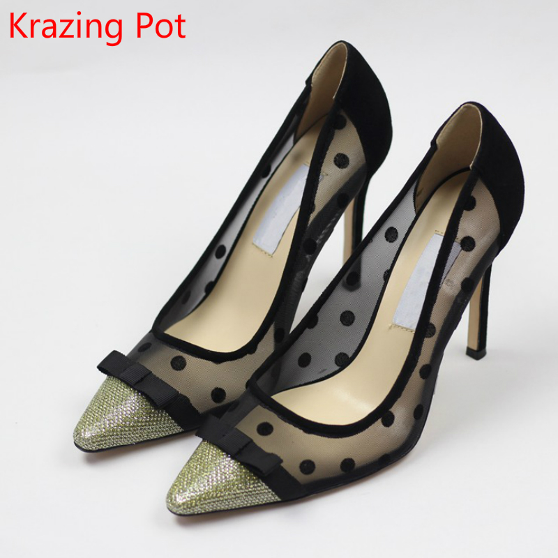2017 New Fashion Large Size Bowtie Pointed Toe Brand Party Wedding Extreme High Heels Women Pumps Sweet Sandals Superstar Shoes<br><br>Aliexpress