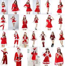 Sexy Santa Claus costume Exotic Apparel White Red Fantasias 2016 Popular Exotic Apparel Costumes Erotic Linger Christmas Dress(China)