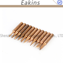 Free shipping 11 Pcs pure copper solder Iron tip 900M-T tip for soldering rework station(China)