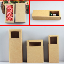 Qi 10pcs/lot 19 sizes Kraft Paper Cardboard Box Paper Drawer Box for Jewelry/Cigarette/Storage DIY Brown Gift Package Box