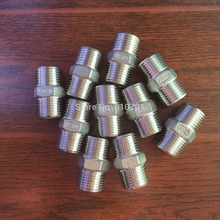 "10pcs 1/2"" Male x 1/2"" Male Hex Nipple Stainless Steel 304 Threaded Pipe Fitting BSPT(China)"
