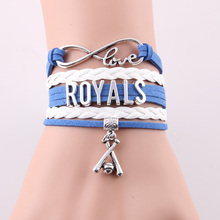Best gift Infinity Love ROYALS baseball sport team bracelet &bangles for fans gift  sport style jewelry drop shopping