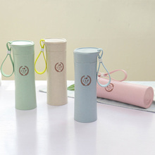 Students Cups Of Wheat Straws Cups With Green Portable Leak-proof Simple Personality Travel Creative Fashion Gifts Bottle