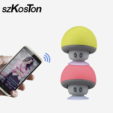 Wireless Bluetooth Speaker Mushroom Mini Sound Box Cute Cartoon Sucktion Cap Audio Outdoor Portable Bracket for Iphone Xiaomi(China)