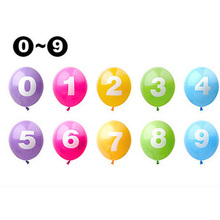 60pcs/lot 12inch 0-9 Number Latex Balloon Inflatable Air Balls Wedding Decoration Balloons Birthday Party Supplies decor ball(China)