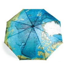 Free Shipping World Map Automatic Folding Umbrella