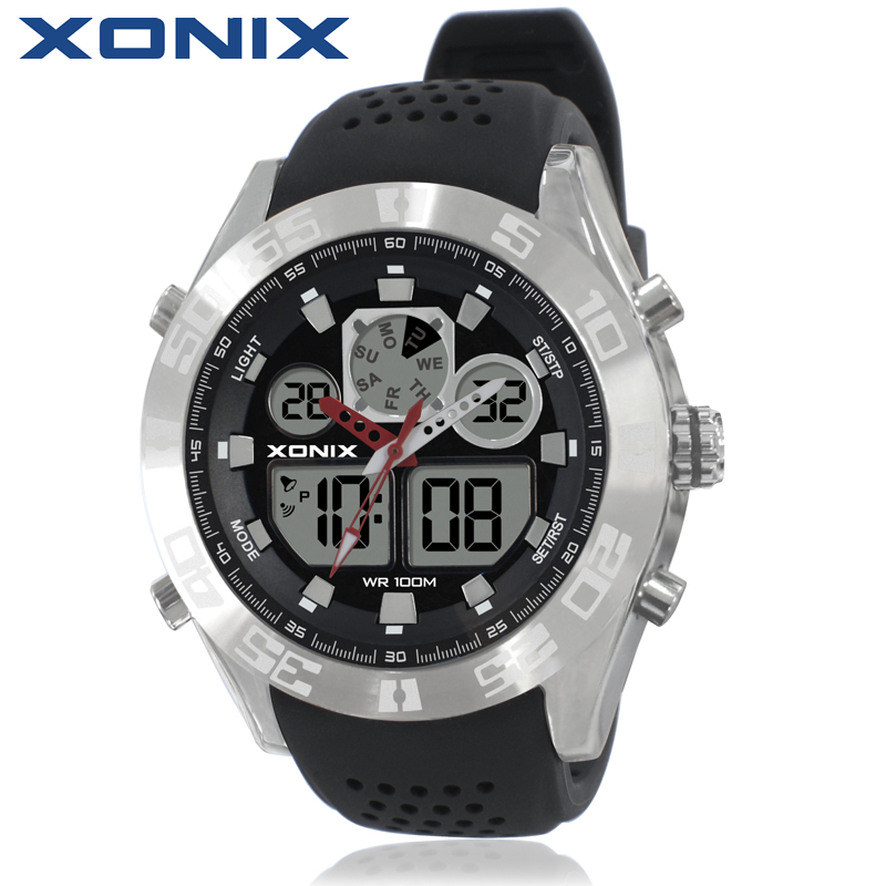 XONIX Men Sports Watches Waterproof 100m Analog-Digital Watch Running Swimming Diving Wristwatch Relojes Hombre Montre Homme MY<br>