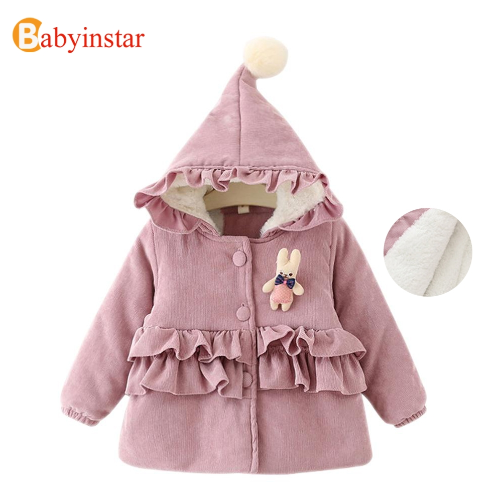 Children Thick Coat Girls Warm Parkas Fold lace Outfit Winter Outwear Toddler Girls Clothing Hooded Parkas 2017 New Girls CoatОдежда и ак�е��уары<br><br><br>Aliexpress