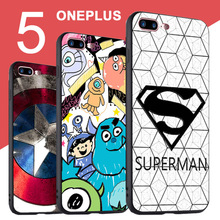 One Plus 5 Case Cover Black 3D Relief Case For Oneplus 5 A5000 case Cover Silicone Cartoon TPU One Plus Five 5 Case Oneplus5 1+5(China)