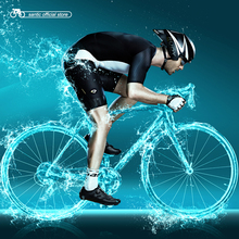 Santic Men Cycling Padded Jersey Sets One Piece Extreme Race Fit A-BLEES Elastic Dry Cool  Italian Fabric Cycling Clothings 3012