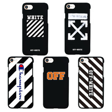 Brand NEW OFF White Off-white Cool Matte Plastic Hard Case for iPhone 5 5s Phone Cover for iPhone 7 6s 6 Plus Virgil Abloh Kanye
