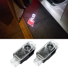 2x Newest LED Car Door Light Decorative Lamp Projector Logo Ghost Shadow Light For For Audi R8 Sline Q3 Q5 Q7 TT A RS S Series