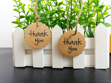 "Buy 100PCS ""Thank you""Kraft paper label tag+10M hemp rope Brown Label Luggage Wedding Note Blank price Hang tag Kraft Gift sticker for $2.32 in AliExpress store"