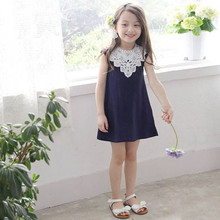 2017 New Summer Costume Girls Princess Dress Children's Evening Clothing Kids Chiffon Lace Dresses Baby Girl Party Dress(China)