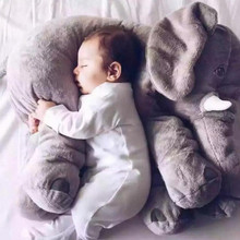 Buy children baby boys&girls Cute cartoon Plush elephant sleeping Pillow soft comfortable PP cotton gift Emulation elephant for $9.51 in AliExpress store