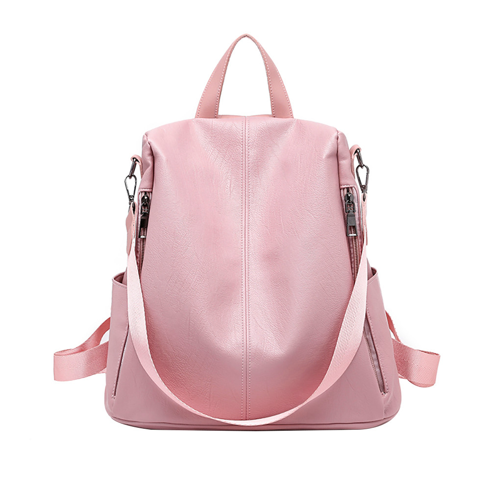 New Woman Anti-theft Backpack Bag Casual Wild Soft Leather Dual-use Small Feminine Backpack PU Leather Travel Schoolbag 10Sep 25