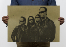 wall pictures for living room canvas painting The band METALLICA / heavy metal rock poster / kraft paper