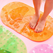 1 pcs Shower Foot Massage Bath Mat Transparent PVC Suction Cup Non-slip pad for bathroom kitchen(China)