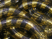Metallic Black Gold Stripe Cyberlox Tubular Crin Hair Extensions 60 yard 16mm(China)
