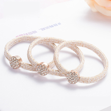 2016 New Brand Crystal Elastic Headbands Top Quality Fashion Elastic Hair Rope Bands Rhine stone Accessories(China)
