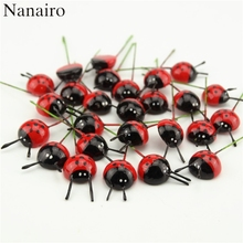 Hot Sale 10Pcs/pack Plastic Foam Ladybird Ladybug Sticker Children Kids Back DIY Craft Home Party Holiday Decoration