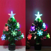 2017 DIY Christmas necessities Hot sale Artificial Christmas Tree LED Multicolor Lights Holiday Window Decorations B787(China)