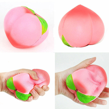 10cm kawaii Squishy Slow Rising Peach Pendant Phone Straps Charms Queeze Kid Toys Cute squishies Bread Cake Kids Toy Gift(China)