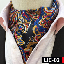 2017 Designer's Men Decorated Ascots Colorful Paisley High Quality Woven Neckerchief for Banquet Wedding