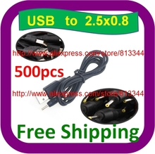 500 pcs Free Shipping 5V 2A USB Cable Lead for NOVO9 Firewire, PIPO M9 Ampe A10 Sanei N10 3G Tablet PC(China)