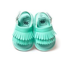 Hot Infant Baby Girl Shoes Leather Tassel Soft Bottom Crib Anti-slip Summer Shoes S01