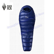 Black Ice G-1000 Professional outdoor White Goose Down winter mummy type sleeping bag