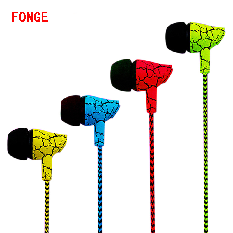 Original Fonge S4 Earphone Bass Headset with Microphone for Mobile Phones iPhone Stereo Earbuds Earpods Airpods cute headphones(China (Mainland))
