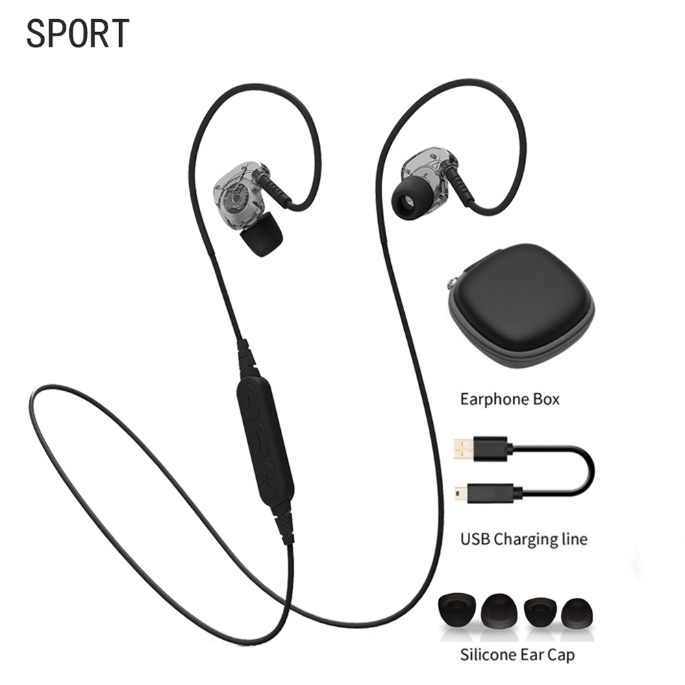 Bluetooth Earphone Headphones Wireless Sport Headphone Noise Reduction Running Stereo Balance Bass With Mic Headset  For Phone<br><br>Aliexpress