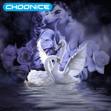 3D DIY Goose Diamond Embroidery Of Swans Paintings Swans Diamond Painting Pictures Of Rhinestones Painting Rhinestones