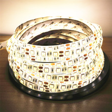 50/100/200/300/400/500cm DC12V 5050SMD 60Leds/m Waterproof Flexible LED Strip Light 6Colors Choose Home Decor LED Tap Ribbon(China)