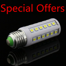 Special Offers SMD 5050 E27 E14 LED bulb 85-265AC/AC LED lamp 36leds,Warm white/white 5050 Corn Light,chandelier ,free shipping
