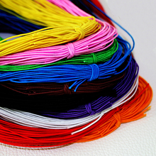 10 Colors Choice 25meters 1MM Beading Elastic Stretch Cord Beads Cord String Strap Rope Bead Thread For Shamballa Bracelet DIY