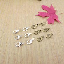 Jewelry finding & components parts 12 mm lobster clasp size number of connection buckle diy accessories Silver bronze TP2045