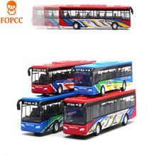 2017 Bus Educational Models Pull Carts Gift Toys Are Children's Favorite Non Remote Control Boys And Girls Pull Back Model Toys(China)