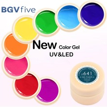 BGVfive 5ml Soak Off Professional UV Nail Gel Non-toxic Fashion Disposable LED Light Cured Nail Art Tool Color Gel(China)