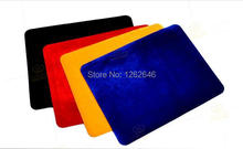 High quality Professional Card Mat, black/red/blue/yellow, Standard Size 42*32cm, pad for poker&coin,Accessories(China)
