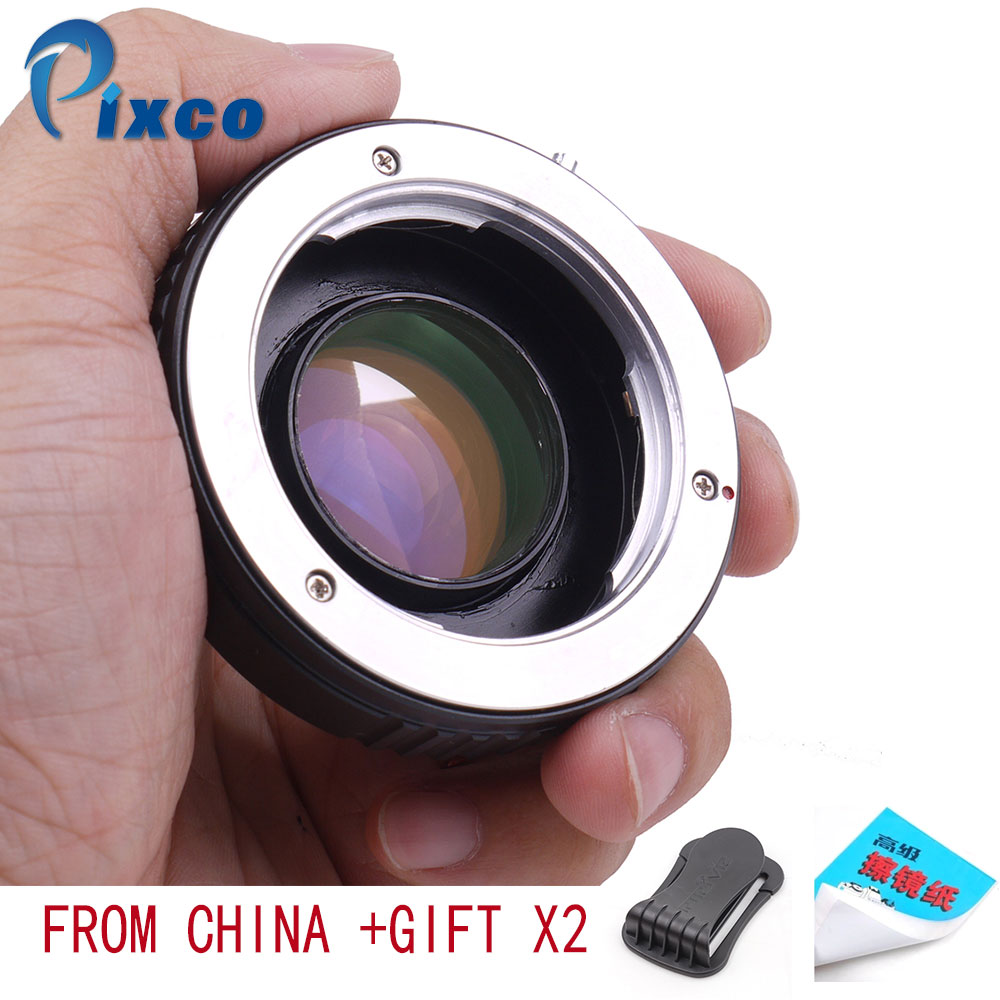Speed Booster Focal Reducer Lens Adapter Suit for M42 Lens to Sony E Mount NEX Camera+39-42mm Step Down Ring Filter Adapter