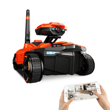ATTOP YD-211 Wifi FPV 0.3MP HD Camera App Remote Control Spy Tank RC Toy Phone Controlled Robot ABS Long Working Time Toys(China)